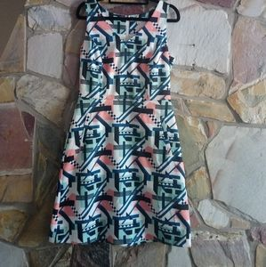 TARGET, ABSTRACT SLEEVLESS DRESS SIZE 10